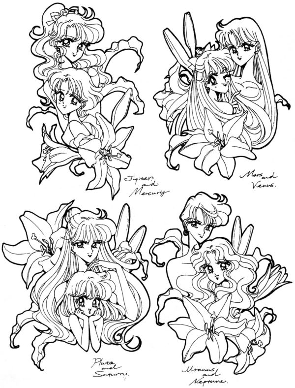 L influence de l art occidental dans les mangas i du9 - Coloriage sailor moon ...
