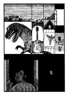 Une planche tirée de La Nuit du capricorne de Grégoire Carlé