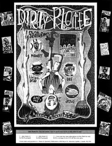 Promotional ad for Dirty Plotte #2 by Julie Doucet, 1991