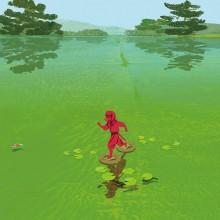«The Red Ninja», illustration de Kiuchi Tatsurô pour un livre pour enfants