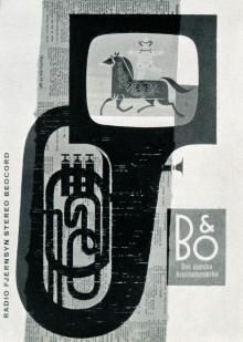 Une publicité pour des téléviseurs par Werner Neertoft (Danemark, 1963)