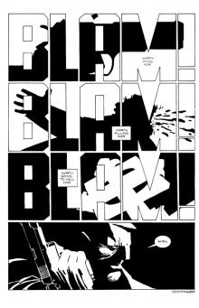 Une page tirée du «Sin City» de Frank Miller