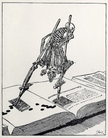 « The Dance of Death » de Joseph Sattler, publié dans le « Modern Illustration » de Joseph Pennell (1895)