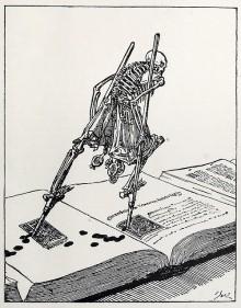 «The Dance of Death» de Joseph Sattler, publié dans le «Modern Illustration» de Joseph Pennell (1895)