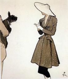 Une illustration de mode signée René Gruau