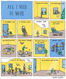 « All I need to write » de Grant Snider