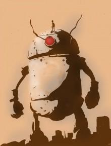 Un robot géant vu par Eric Orchard