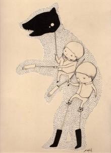 Ghostpatrol dessine un ours en gants et chaussettes
