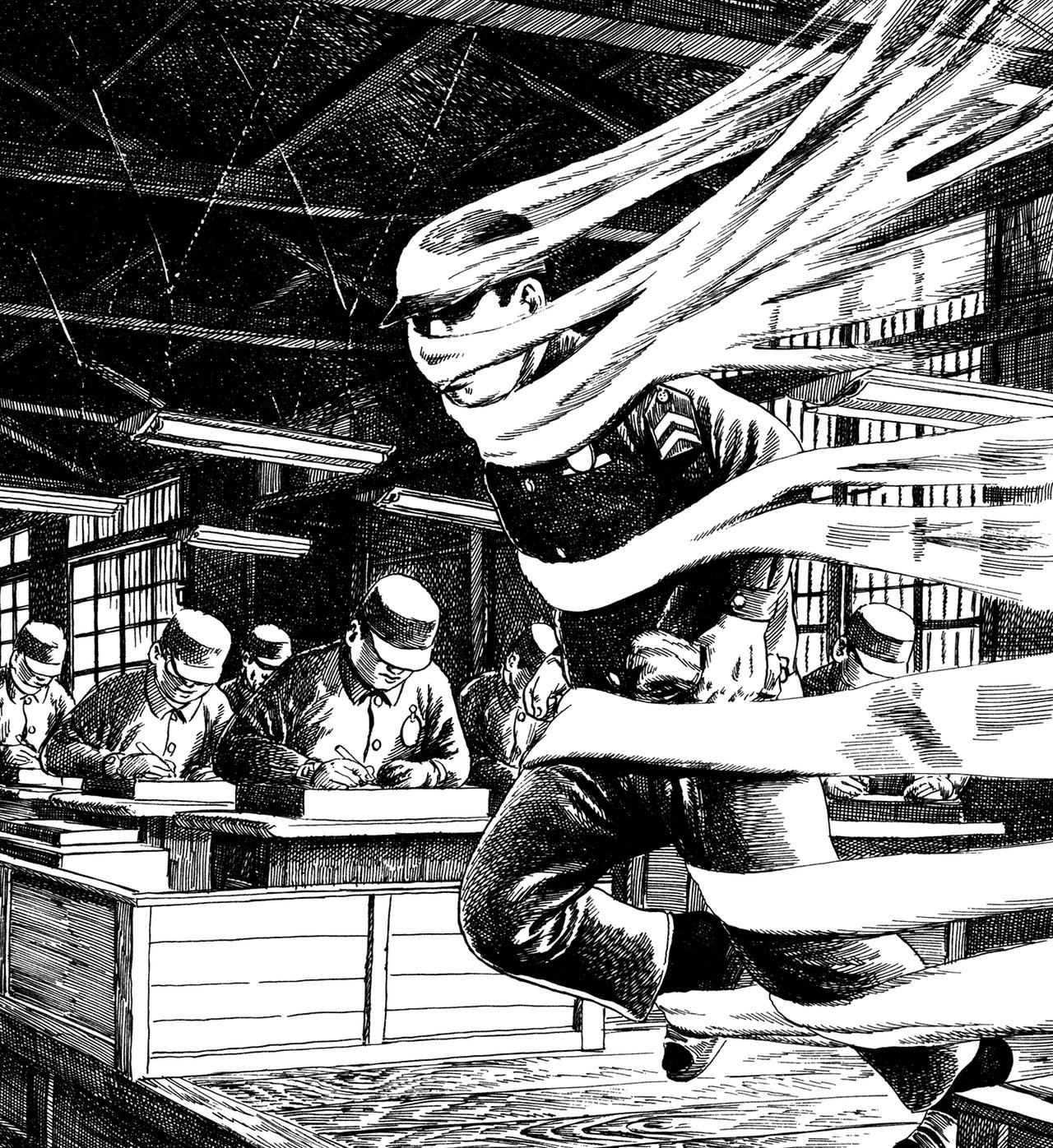 Une illustration tirée du « Dans la prison » de Hanawa ...