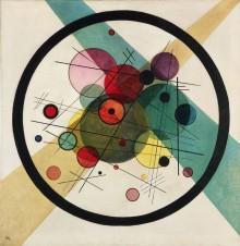 Vasily Kandinsky met des cercles dans des cercles