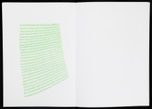 Myriam El HAIK - cahier d'écriture N°3 - 2011- felt-tip on paper -  42x30 cm